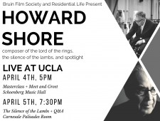 Howard Shore at UCLA Bruin Film Society